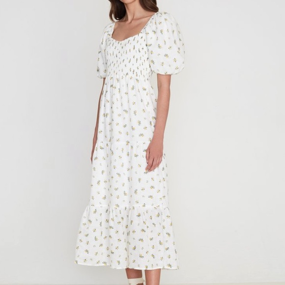 Gianna Midi Dress in Carrie Floral Print